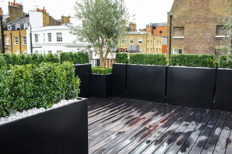 Roof terrace design london roof terrace planters roof - Jardineras en terrazas ...